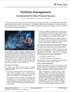 Portfolio Management: Fundamental for New Product Success