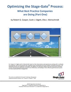 Optimizing the Stage-Gate® Process: What Best Practice Companies are Doing - Part One
