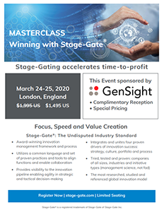MASTERCLASS: Winning with Stage-Gate Brochure